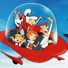 The Jetsons, produced by Hanna-Barbera, originally aired in prime-time from 1962–1963 and again from 1985–1987. The Jetsons live in the year 2062 in a futuristic utopia of elaborate robotic