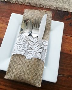 Rustic Country Hessian & Brown Paper Wedding Tissues