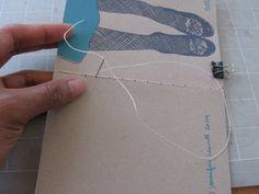 How to: make a hand-stitched notebook | Jen Hewett, illustrator, print maker, textile designer.