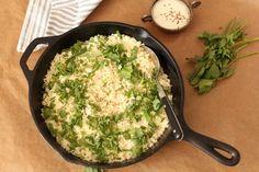 Herbed Cauliflower 'Rice' with Tahini Yoghurt