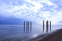 Pillars, remains of the old pier at Brighton Beach
