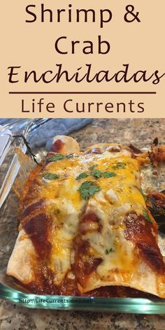 Shrimp and Crab Enchiladas are the perfect Mexican comfort food! Shrimp and Crab Enchiladas are the perfect Mexican comfort food! Vegetarian Mexican Recipes, Mexican Dessert Recipes, Mexican Dishes, Mexican Slaw, Mexican Easy, Mexican Tamales, Mexican Drinks, Mexican Chicken, Mexican Appetizers