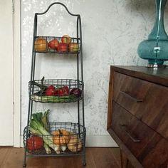 Industrial Wire Basket 3 Tier Storage Rack - The Farthing  - 1