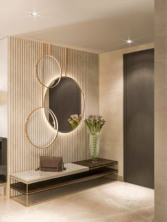 Schönheitssalon Design, Foyer Design, Home Room Design, Living Room Designs, Living Room Decor, Corridor Design, Tv Wall Design, Lobby Design, Entrance Hall Decor