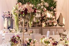 Florals by @celiosdesign brought beautiful romance to the reception.  As seen in @InsideWeddings Creative Team: Decor  Furnishings: @revelryeventdesign  Floral Design: : @celiosdesign Venue: @hotelbelair Lighting: @images_lighting Videography: @CustomMadeProductions Photography: Katie Beverley @KatieBeverleyPhoto for  Gloria Mesa Photography @gloriamesaphotography