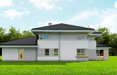 Dom z Widokiem Colonial, Home Fashion, Design Projects, House Plans, Garage Doors, Villa, House Design, Mansions, House Styles