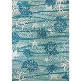 Found it at AllModern - La Mer Turquoise/White Indoor/Outdoor Area Rug