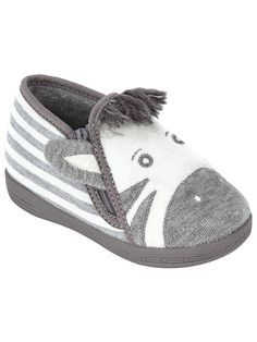 d1d3b9f1fc2 BuyJohn Lewis   Partners Baby Zebra Slippers