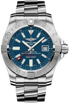 Breitling Avenger II GMT Mariner Azul III pulsera Profesional