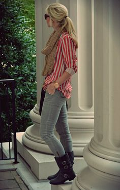casual vertical stripes