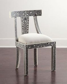 Shop Femi Bone-Inlay Accent Chair at Horchow, where you'll find new lower shipping on hundreds of home furnishings and gifts. Floral Furniture, Handmade Furniture, Furniture Sale, Furniture Making, Furniture Chairs, Indian Furniture, Furniture Ideas, Furniture Design, Floral Accent Chair