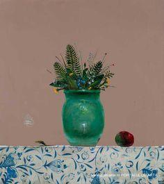 Still Life 2, Painting Still Life, Glow, Vase, Flowers, Illustrations, Artists, Home Decor, Kunst