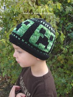 Hand knit Creeper Hat... from Made In Kansas By Rosi, on facebook.