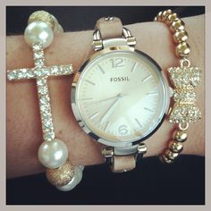 Fossil watch, and bracelets!:)