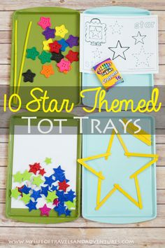 10 Star Themed Tot Trays
