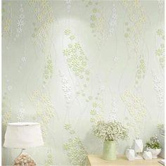 beibehang Environmental protection Korean pastoral non-woven wallpaper green bedroom living room wallpaper romantic papel parede #Affiliate