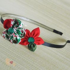 Buy directly from the world's most awesome indie brands. Or open a free online store. Angel Crafts, Kanzashi Flowers, Gold Pattern, Craft Shop, Green Cotton, Mistletoe, Flower Making, Indie Brands, Hair Band