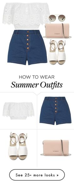 """Idée et inspiration look d'été tendance 2017   Image   Description   """"Summer Outfit"""" by mayalexia on Polyvore featuring rag & bone, Miguelina, Prada and Givenchy"""