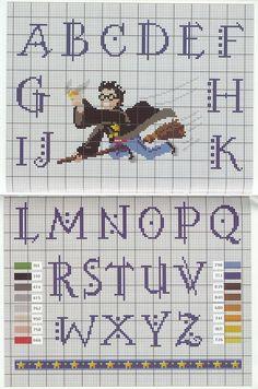 abecedario punto cruz