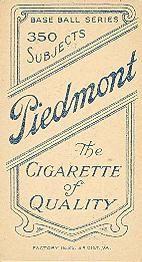1909-11 The American Tobacco Company T206 White Border #147 Slow Joe Doyle (NY Nat'l Hands Above Head) Back