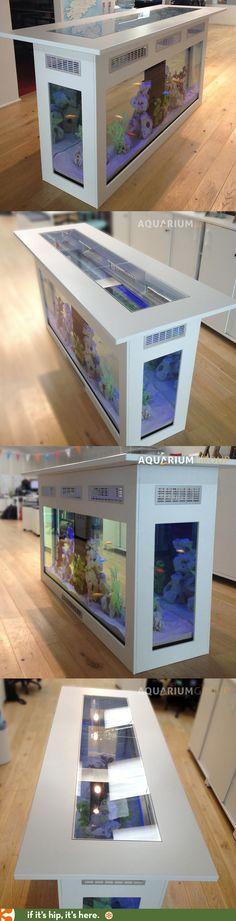 Custom Bar / Island Aquarium by Aquarium Group.
