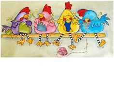 Embroidery & Cross Stitch Chicken Full Diamond Painting Embroidery Diy Needlework Home Decor Gifts Art & Garden Art Fantaisiste, Arte Country, Knitting Humor, Knitting Quotes, Knitting Club, Knitting Projects, Diamond Drawing, 5d Diamond Painting, Diamond Art
