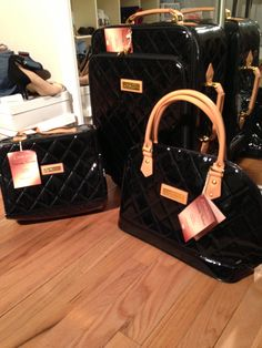 Joy Iman 4 Piece Quilted Luggage Set From Hsn Http Www