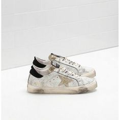 Acheter Golden Goose May Chaussures Femme GGDB Sneakers Blanc Argent  Superstar Sneakers, Tennis Sneakers, 9a5e9890187a