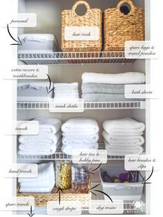 Small Bathroom Storage 215891375872522046 - Organized Bathroom Linen Closet Anyone Can Have – Kelley Nan- Elfa door system with medicine storage solution Source by playhousedreamplans Bathroom Linen Closet, Diy Bathroom, Small Bathroom Storage, Bathroom Ideas, Small Closet Storage, Hallway Closet, Closet Doors, Tiny Closet, Bathroom Vanities