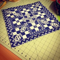 Aurifil Desogner BOM 2015 Mini featuring Bengal fabric by @quiltjane