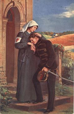 Meggyogyult (Healed), the Nurse portrayed as comforting healer, ca. 1915. Pictures of Nursing: The Zwerdling Postcard Collection. National Library of Medicine
