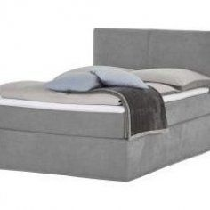Boxspringbett Grau 140 Cm 125 Cm Betten Doppelbetten M Bel Kraft Housedecor Decorstyles Decoratingstyles In 2020 Box Spring Bed Grey Bedding Bed Springs