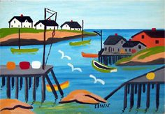 Maud Lewis Paintings Sold At Black Sheep Gallery Maudie Lewis, Naive Art, Art For Art Sake, Canadian Artists, Aboriginal Art, Religious Art, Op Art, Cool Artwork, Art Lessons