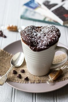 This Chocolate Caramel Mug Cake is moist and delicious and perfectly fudgy! It's the ideal quick and easy dessert!