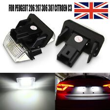2x Peugeot 206 Genuine Osram Ultra Life Number Plate Lamp Light Bulbs