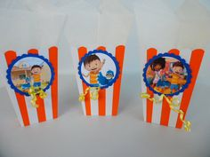 Zack and Quack inspired popcorn boxes..party by FluidYard on Etsy