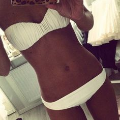 I like white bikinis!