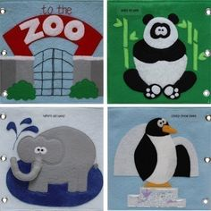 To the Zoo  ePattern for a Toddler's Quiet Book by copycrafts, $8.00