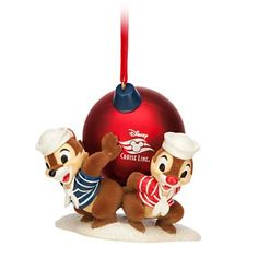 Your WDW Store - Disney Christmas Ornament - Chip 'n Dale - Disney Cruise Line