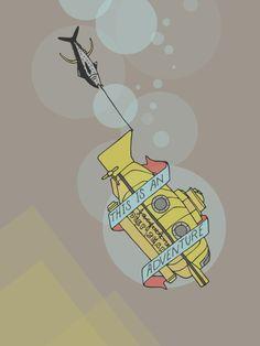 This Is An Adventure | The Life Aquatic with Steve Zissou Art Print by Scott Erickson | Society6