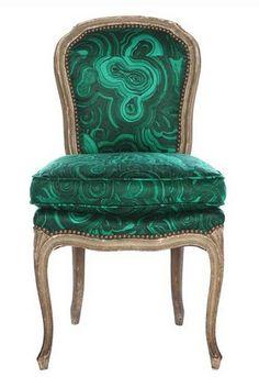 """Malachite Chair"" by Tony Duquette #emerald #green"
