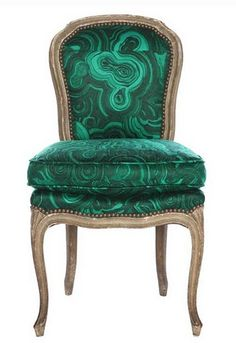 """Malachite Chair"" by Tony Duquette #emerald #green"