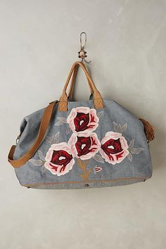 NEW Anthropologie Cottage Rose Weekender Bag by Miss Albright NWT SOLD OUT #AnthropologieMissAlbright #TotesShoppers