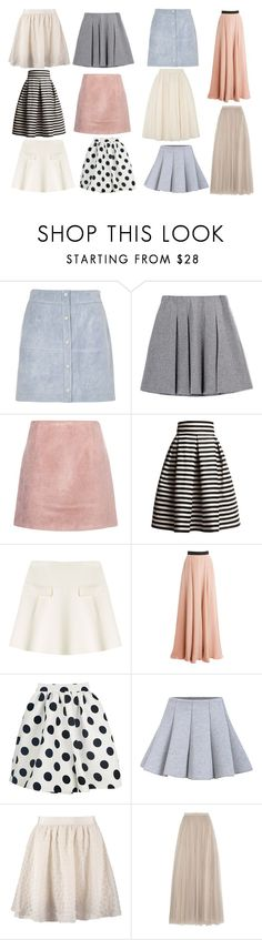"""Style Steal:Marzia Bisognin-Skirts"" by emnicole9 ❤ liked on Polyvore featuring River Island, Fall Winter Spring Summer, Acne Studios, Rumour London, Oscar de la Renta, Roksanda, Benetton, Needle & Thread, Ted Baker and cute"
