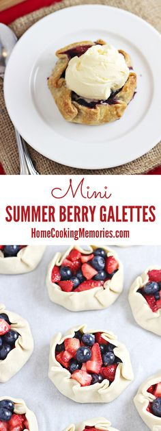 Summer Berry Galettes are like a pie, but so much easier to make! It's a summer dessert that's sure to impress your guests.Mini Summer Berry Galettes are like a pie, but so much easier to make! It's a summer dessert that's sure to impress your guests. Mini Desserts, Brownie Desserts, Easy Desserts, Delicious Desserts, Yummy Food, Desserts Keto, Yummy Cookies, Yummy Treats, Sweet Treats