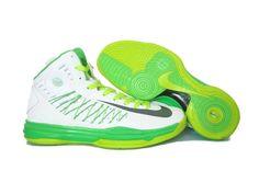 super popular da811 1966c Nike Lunar Hyperdunk X 2012 LeBron James White Green Basketball shoes SJ  Grey Nikes,