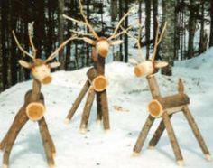 Norse Woods Deer and other outdoor crafts Christmas Yard Art, Christmas Time Is Here, Country Christmas, Outdoor Christmas, Christmas Projects, Winter Christmas, Handmade Christmas, Reindeer Decorations, Handmade Decorations