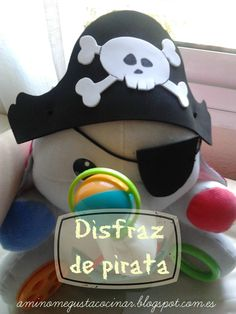 Como hacer un disfraz de pirata muy fácil para niños (DIY), en el blog A mí no me gusta cocinar.