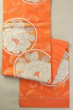 蘇比色地 華やかな丸に花柄 六通袋帯    #Kimono #Japan http://www.rakuten.co.jp/aiyama/