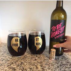 BEST FRIENDS wine glasses from Shop @WomenWhoLoveWine